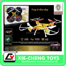 Air Gyro 33 cm 4-axis aircraft with light Remote Control Airplane Model Toy