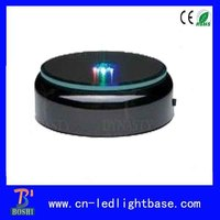 Round black base led battery night light