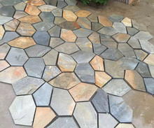 Natural flagstone with mesh backing