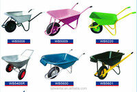 professional factory wb6414T PVC tray plastic bucket wheel barrows