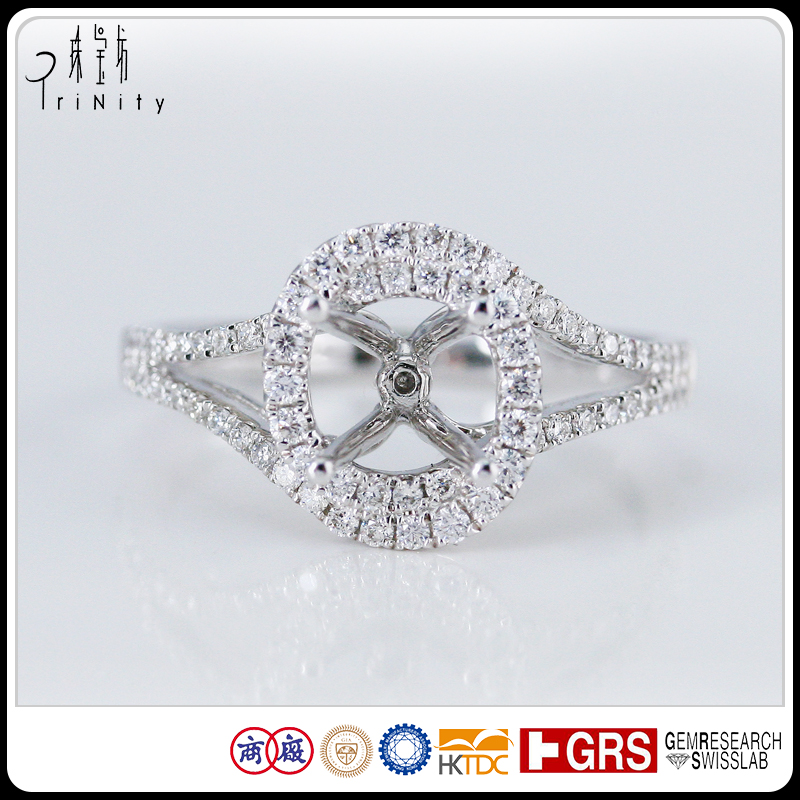 Direct China Factory Supply Price High Quality White Gold 1 Carat Diamond Ring