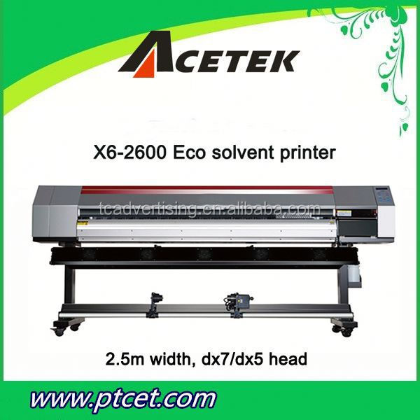 Eco solvent printer for advertising pictorials,leather,stylish,card sticker and inkjet light box