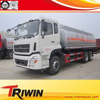 14 ton 230hp ISDe230 engine EURO 3 china brand 6x4 20m3 fuel tank truck