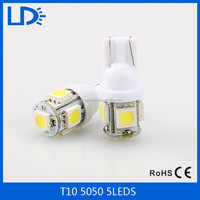 factory hot sale LED W5W t10 5050 5smd light led bulbs for car