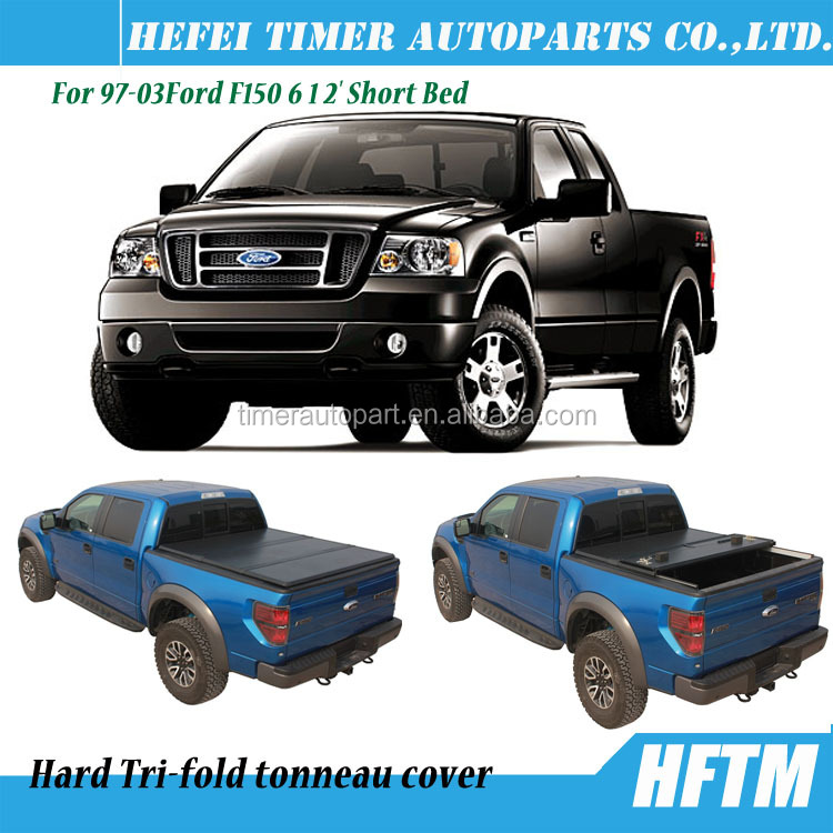 Compatible with 97-03Ford F150 6 1 2' Short Bed hard Pickup bed cover truck covers
