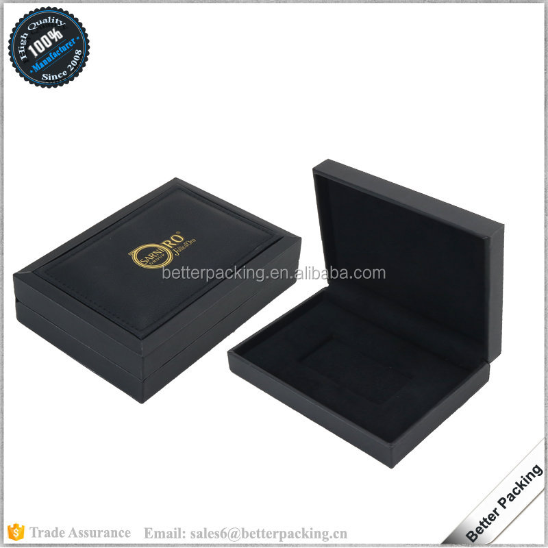 JBS157 Custom Quality Faux Leather Gift Packaging Box for Coin Medal Souvenir
