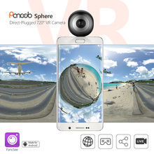 plug and play mini VR360 camera dual fish eye Lens 720 degree panoramic sports action panorama vr camera plug to Android phone