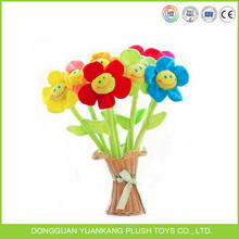Colorful soft stuffed plush toy rose flower for gifts