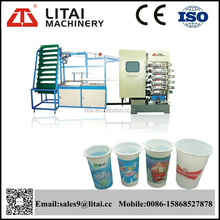 Full automatic PP/PS/PET/PVC plastic cup and bowl printing machine manufacturer