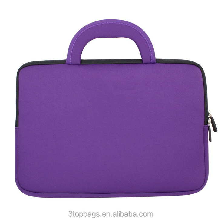 New Stylish Neoprene Sleeve high quality laptop messenger bag purple color