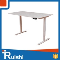 European ergonomic office products white height adjustable desk