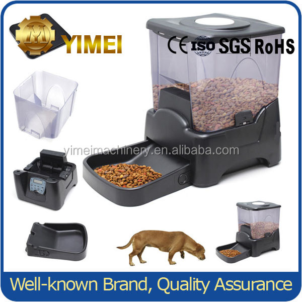 6 Meal Timed Automatic Pet Feeder Dog Cat Food Bowl Dispenser