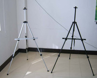 Silver/Black Aluminum Adjustable Painting , Field Easel