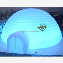 white inflatable ice igloo for sale/ air tent inflatable igloo in hot sale