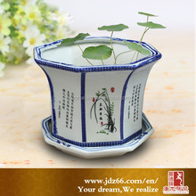 Garden plant ceramic flower pot painting designs