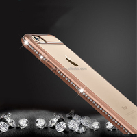 New luxury Water diamond phone shell electroplate mobile phone cover protective shell Phone Cases For iPhone 6 4.7""