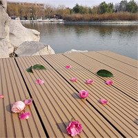 WPC outdoor decking with accessories , cheap price wpc solid composite decking floor, easy install floor