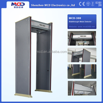 Best fashion walk through metal detector gate with 6 zones