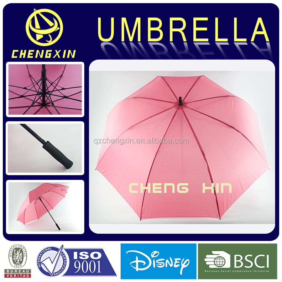Wholesale high quality golf size pink color backpack umbrella