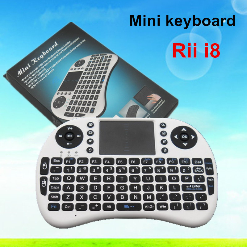 2016 high performance !!!2.4G wireless Rii I8 Air Mouse Multi-Media Remote Control Touchpad Handheld Wireless Keyboard