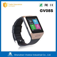 2015 New fashion bluetooth men watch GV08S hyperdon smart watch phone support SIM card cameraand pedometer