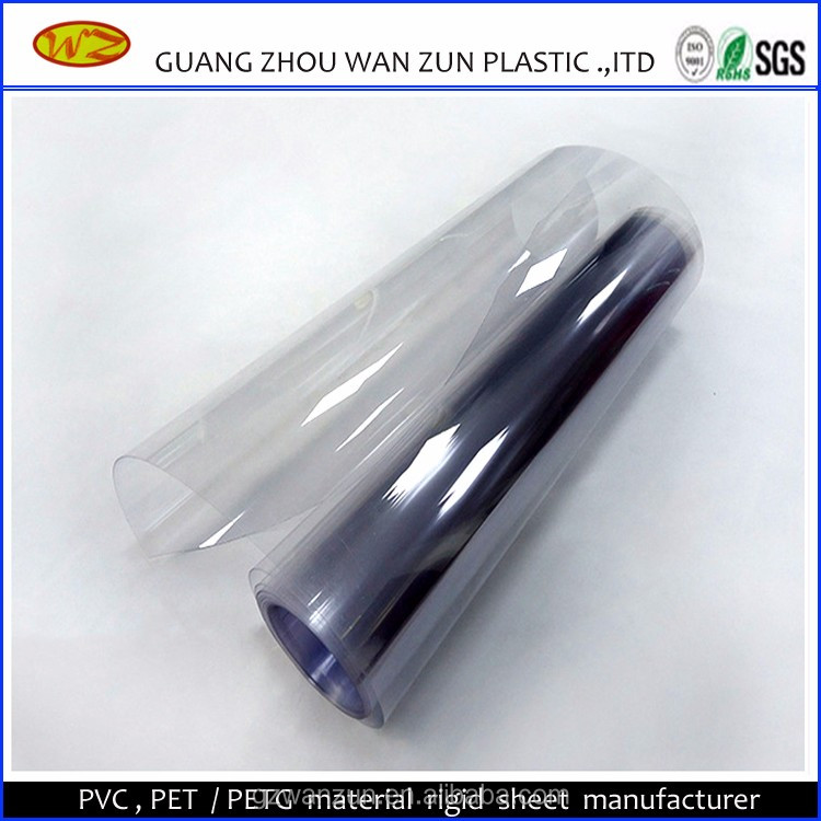 0.4mm thin transparent plastic clear pvc rigid film for thermoforming