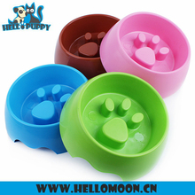 Newest Professional Pet Slow Paw Print Dog Bowl