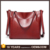 wholesale wine red oversized soft leather tote bags for school in Canada