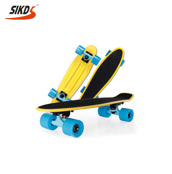 Wholesale 22inch plastic skateboard with grip tape fish board