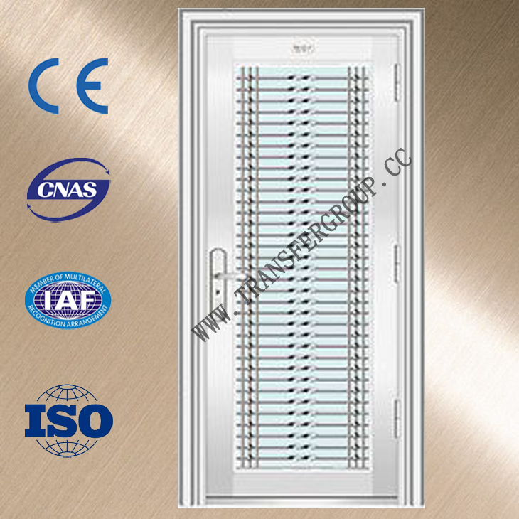 Safety door design with grill stainless steel door for Main entrance door grill