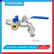 Junxiang factory cheap zinc wall mounted hose brass bib water tap