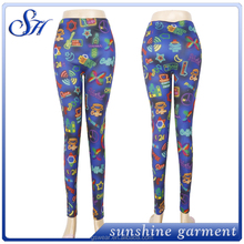 Brushed polyester print leggings pictures of women in tight leggings printing pants