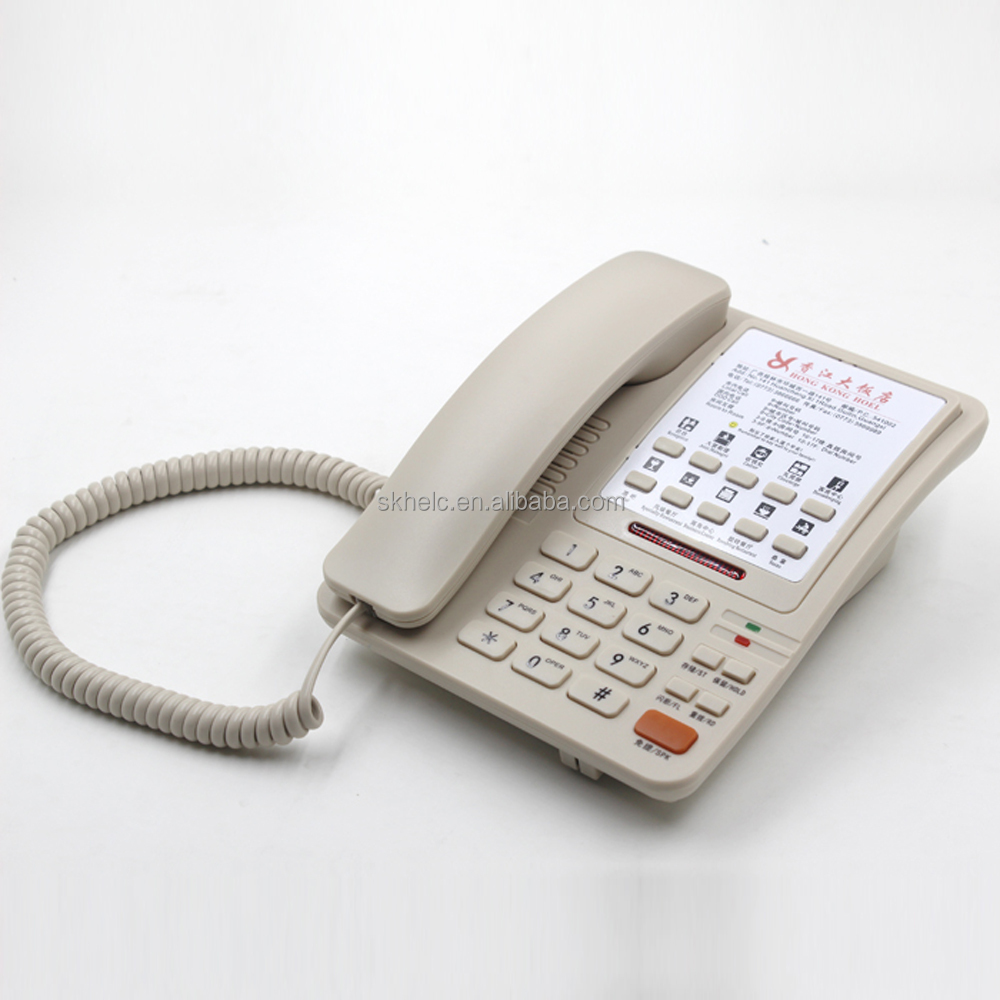 Basic analog landline phone for hotel and telephone for guestroom and recepion desk