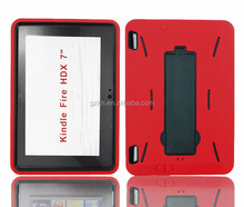 2015 New products wholesales price popular practical tough robot waterproof PC+Silicone rubber case for Kindle Fire HDX 7.0""