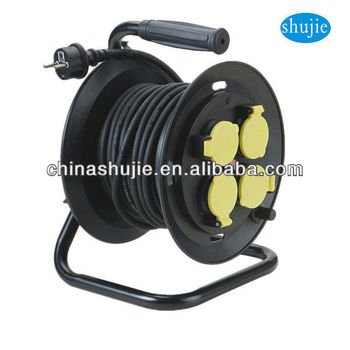 Industrial French GERMAN cable wheel spring loaded cable reels
