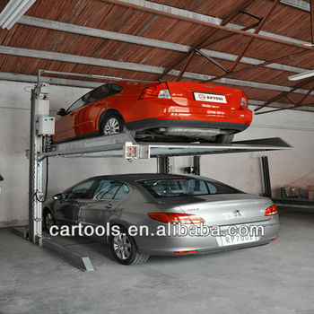 Cheap smart 2 post car garage parking lift parking system solution(A)