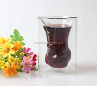 150ml glassware factory wholesale promotional glass wine cup set bar party reusable double wall glass beer mug for sale