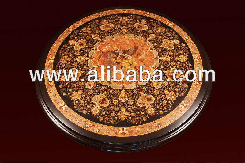 Iran Wooden Art, Decorative Wooden Art Of Iran , Handicrafted Table