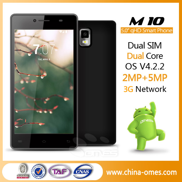 <strong>M10</strong> 1.2 Ghz 5.0inch Lowest Price China MTK 6572 Unlocked <strong>Android</strong> Phone