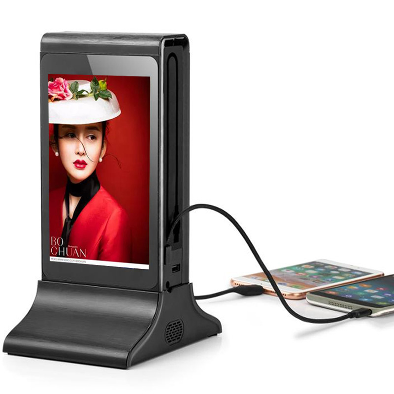 2018 Top <strong>10</strong> Sell Digital Table Advertising Player Mobile Phone Charging Station