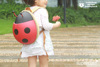 Souvenir camping use ladybug kids backpack personalized