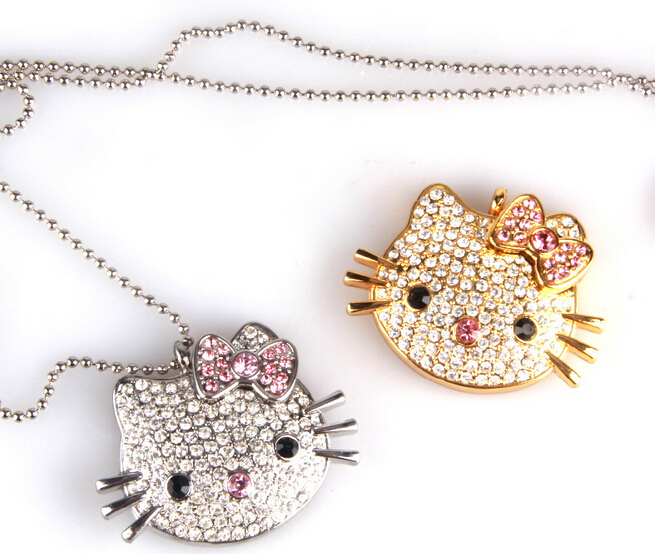 Hello Kitty Cat Shaped Jewelry Gadget USB Flash Memory Stick 8GB Pen Drive for Gift