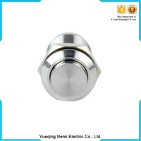 Diameter 12mm Stainless Steel latching push button micro switch