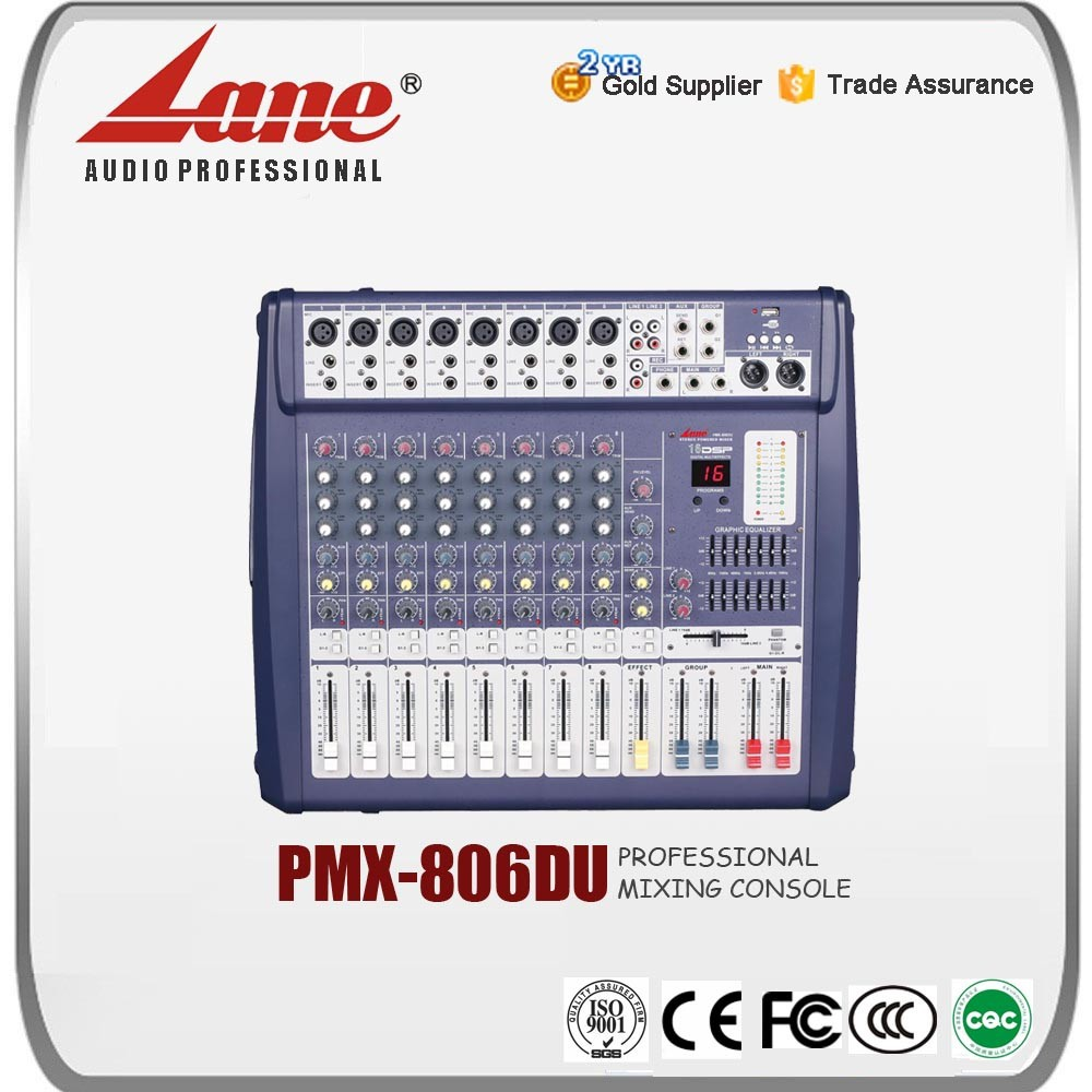 Lane 8 channel karaoke mixer amplifier PMX - 806DU
