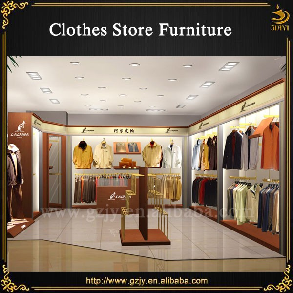 2017 fashion clothes display cabinet and shop furniture garment display