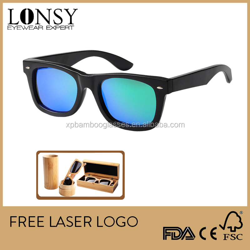 Cat 3 UV400 Bamboo Sunglasses from China Manufacturer LS1001-C22