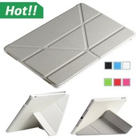 Folding Folio PU Leather Magnetic Smart Cover Case slim For iPad 5 5th air