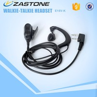 Two way Radio Headphones 3.5mm 2Pin Walkie Talkie earphone Transceiver headset For E15V-K