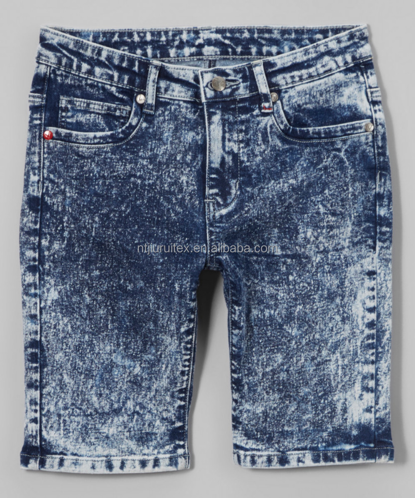 kids'/boys' Acid Wash Five-Pocket Denim Shorts