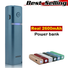 Hot selling high capacity factory supply 2600mah universal external portable mobile phone battery charger